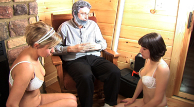 Gramps Tickles and Humiliates Addie and Lacy
