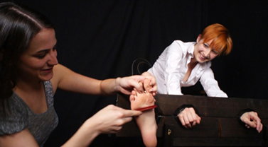 Orias Bastest Foot Tickled in Stocks